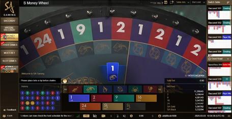 วงล้อมหาโชค SA Gaming Money Wheel