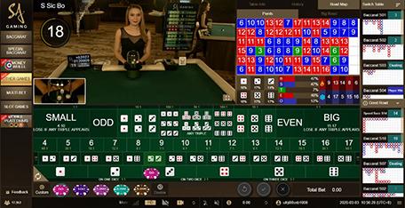 ไฮโล SA Gaming Sicbo ซิกโบ