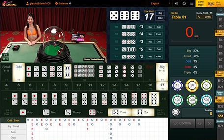 ไฮโล Sexy Baccarat Sexy Gaming Sicbo ซิกโบ