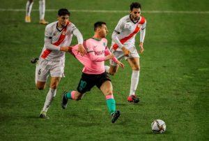 บาร์เซโลนา แซงชนะ ราโย บาเยกาโน หวุดหวิด 2-1